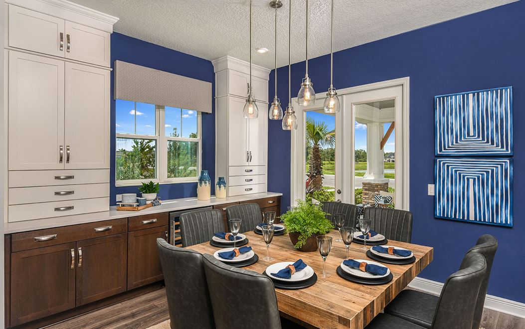 Stonebrook model home interior at Bexley community