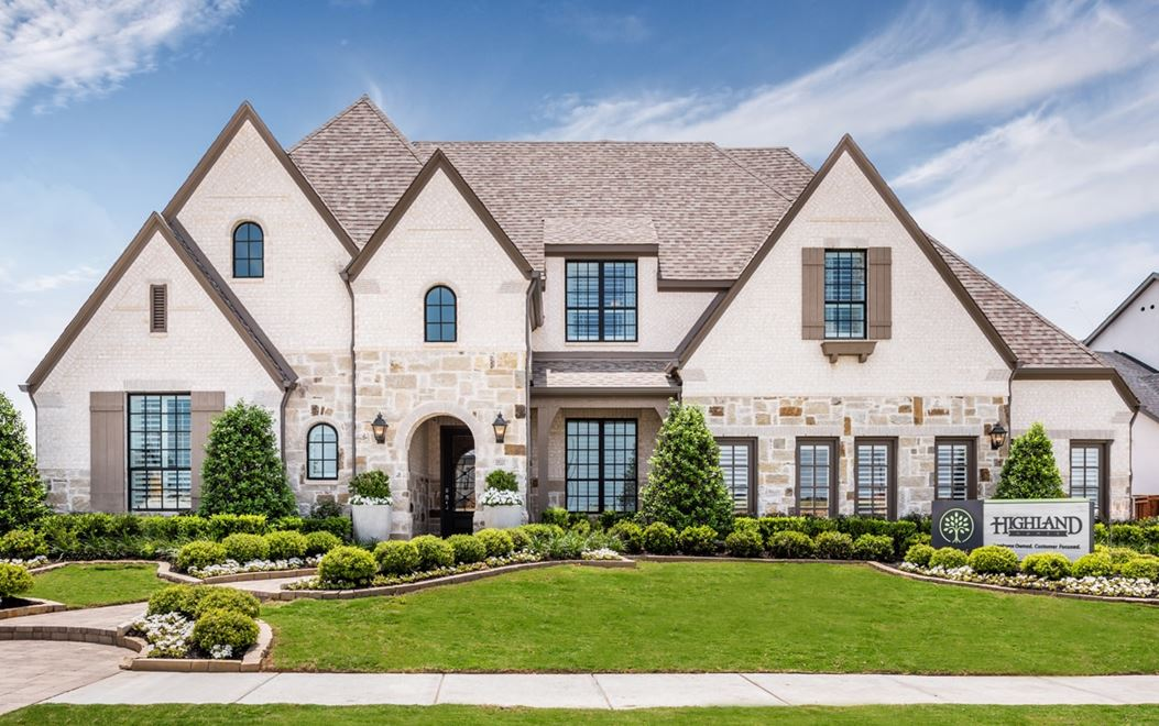 Highland model home at The Grove Frisco community