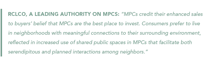 RCLCO quote on master-planned communities