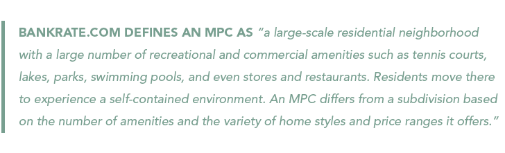 Bankrate.com definition of master-planned community (MPC)