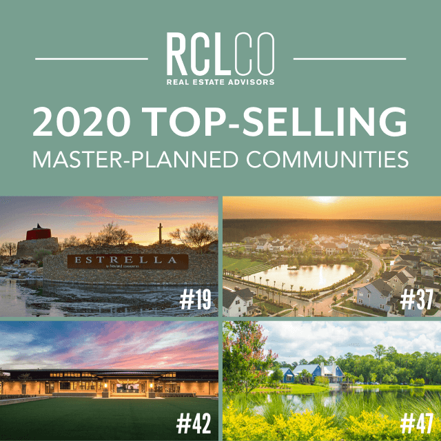 2020 Top-Selling Master-Planned Communities